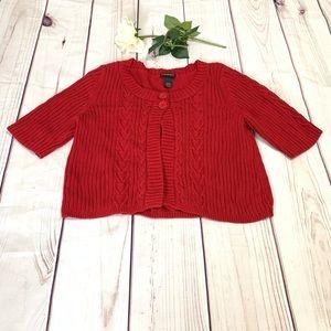 Lane Bryant size 18/20 red  sweater cardigan